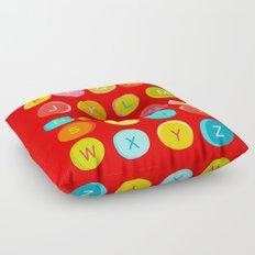Red Alphabet Floor Pillow