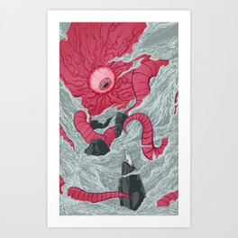Crawling Eyes Art Print