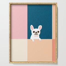 Little_French_Bulldog_Love_Minimalism_001 Serving Tray