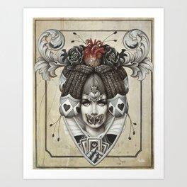 La reine rouge Art Print