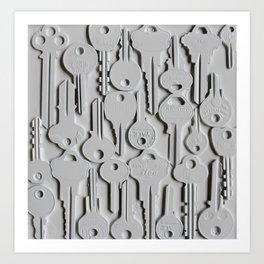 White keys Art Print
