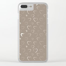 Made for you my heart 19 Clear iPhone Case