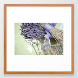 dried lavender Framed Art Print