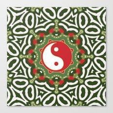 Holiday Festive Balance Yin Yang Canvas Print