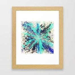 Blue Frequency Framed Art Print