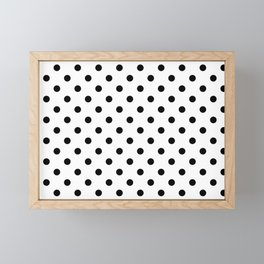 Girls just wanna have dots - Polka Dot black/white Framed Mini Art Print