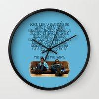 rap Wall Clocks featuring 101 Rap by Marianna