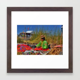 Uros Woman Framed Art Print