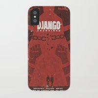 quentin tarantino iPhone & iPod Cases featuring Django Unchained -  Quentin Tarantino Minimal Movie Poster by Stefanoreves