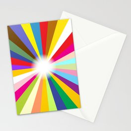 Bright Ray Background Stationery Cards