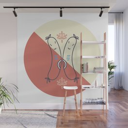 Cheerio Sausages - Red Colourway Wall Mural