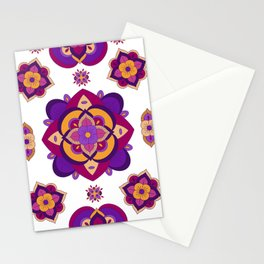 Mandala-Purple and Pink Stationery Cards