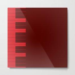 Red Piano Keys Metal Print