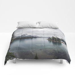 Maligne Lake Jasper Alberta Comforters