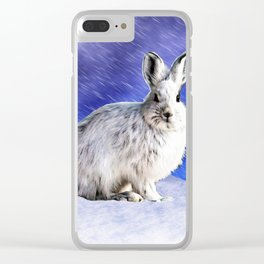 Snow Bunny Clear iPhone Case