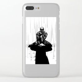 Black Spider-Man Clear iPhone Case