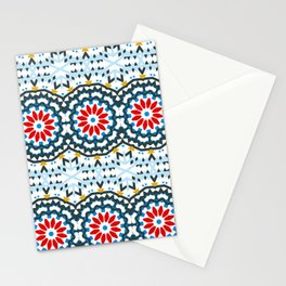 Ethnic pattern with abstract flowers Stationery Cards