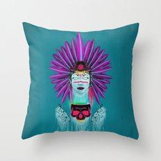 Witch Doctor Throw Pillow