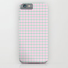Gingham pink and forest green iPhone 6s Slim Case