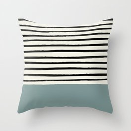 River Stone & Stripes Throw Pillow