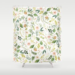 Botanical Spring Flowers Shower Curtain