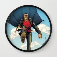 dracula Wall Clocks featuring Dracula by Eco Comics