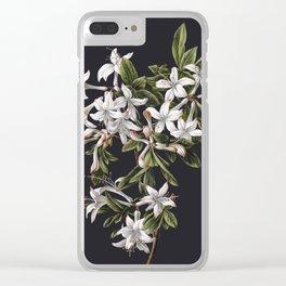 Azalia Flower Clear iPhone Case