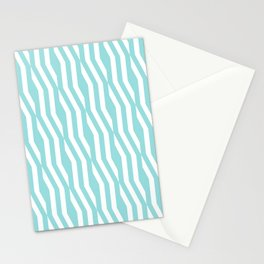 Abstract geometric zigzag pattern in limpet shell Stationery Cards