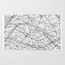 Paris France Map With Coordinates Rug