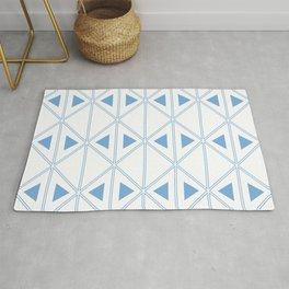 Jordy Blue Art Deco Triangles | Beautiful Interior Design Rug