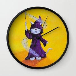 Wizard Kitty Wall Clock