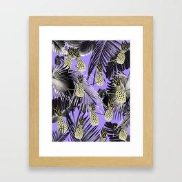 Tropical Pineapple Jungle Geo #4 #tropical #summer #decor #art #society6 Framed Art Print