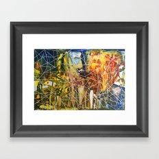 Triangle City Framed Art Print
