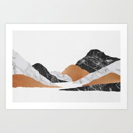 Marble Landscape II, Mountains Art Print