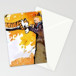calvin and hobbes sleep Stationery Cards