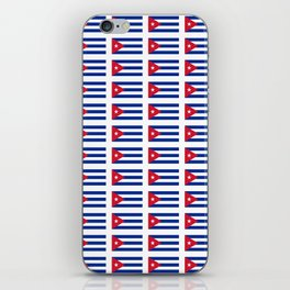 Flag of Cuba 2 -cuban,havana, guevara,che,castro,tropical,central america,spanish,latine iPhone Skin