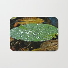Laundered Lily Pad Bath Mat