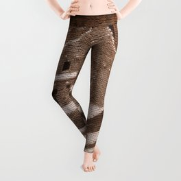 The Cliff Dwellers - Legends Of America Leggings