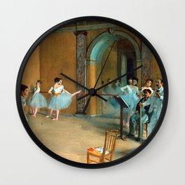 Edgar Degas - Le Foyer de la danse à l'Opéra de la rue Le Peletier.jpg Wall Clock