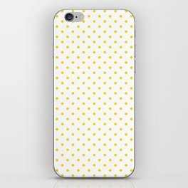 Dots (Gold/White) iPhone Skin