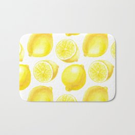 Lemons pattern design Bath Mat