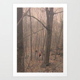 Red forrest Art Print