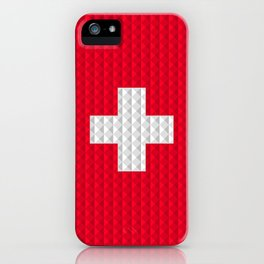 Swiss flag by Qixel iPhone Case