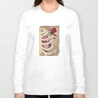 wedding Long Sleeve T-shirts featuring Wedding Bouquet by Gin Cherry