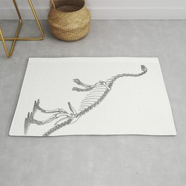 Dinosaur skeleton illustration Rug
