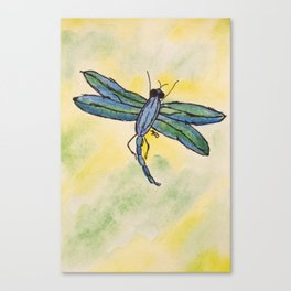 Whimsical Dragonfly Canvas Print