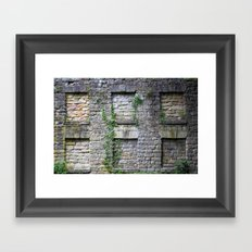 Wall Of Privacy Framed Art Print