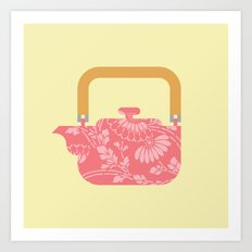 Japan Teapot Spring Art Print