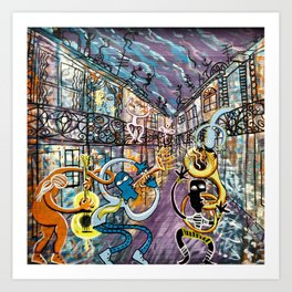 French Quarter Street Musicians Art Print