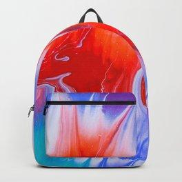 Skull Face Flames Backpack